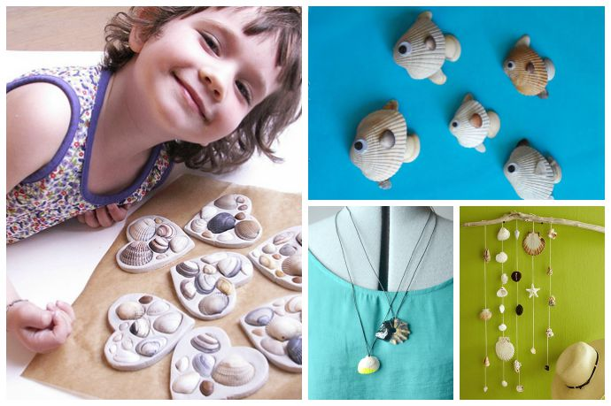 easy fun shell crafts for kids